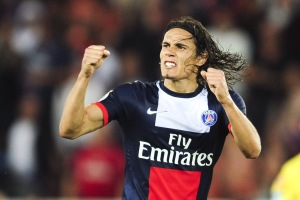 joie d Edinson Cavani (PSG) apres son but